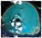 IKONOS Satellite image of Kure Atoll. Click for larger image.